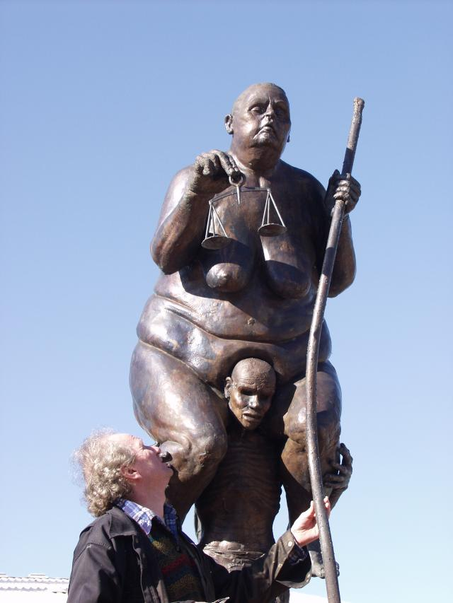 Survival of the Fattest sculpture was unveiled in December 2002 in Copenhagen Denmark.